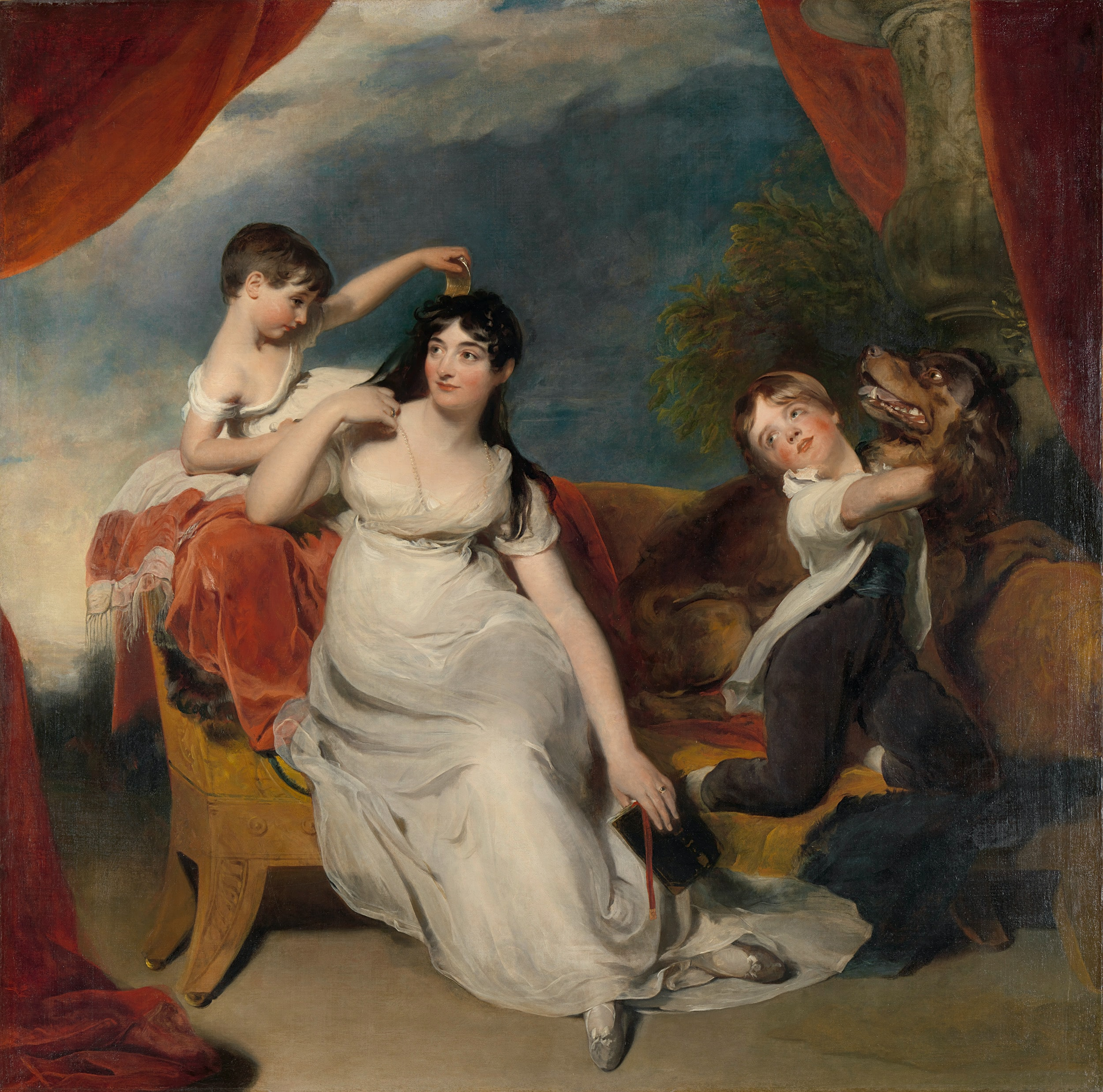 Maria Mathilda Bingham with two of her children Thomas Lawrence 1810 - 1818, Oil on canvas